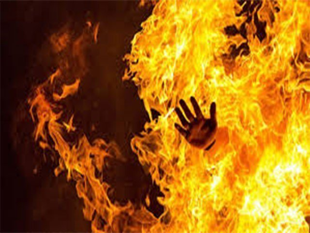 Yasir, From Daska set to fire by his friends on a petty issue. A man set on fire by friends over a  petty dispute.