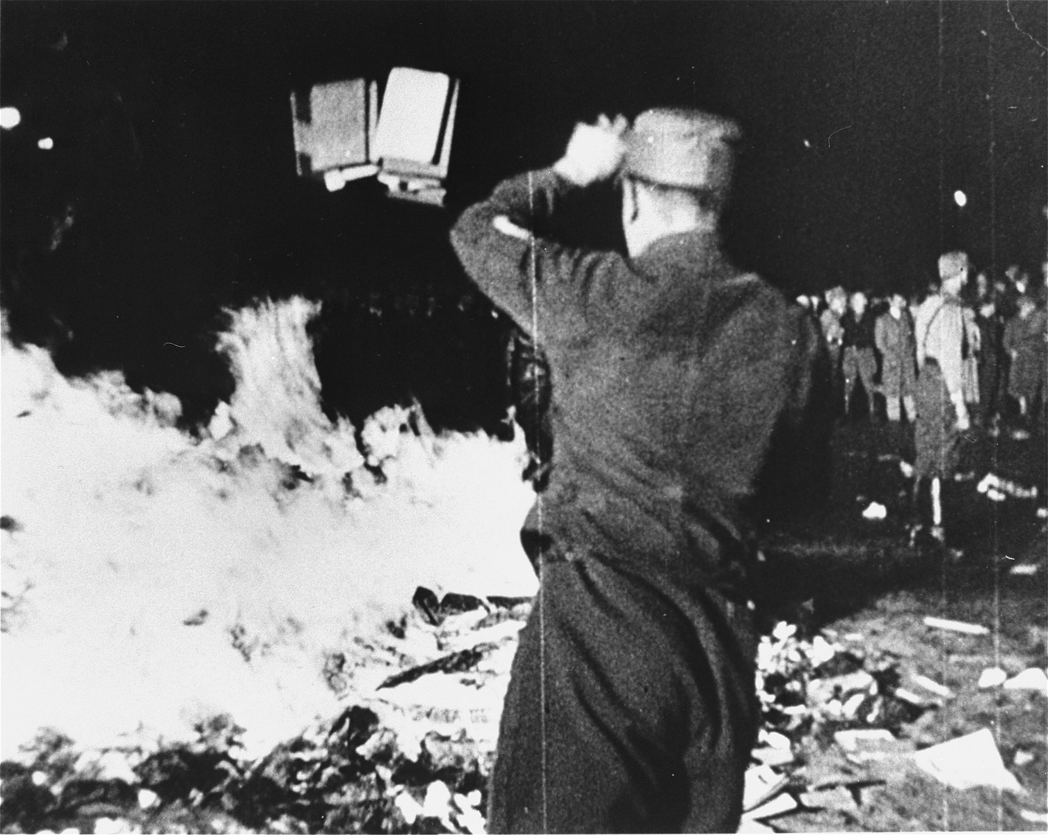 Thousands of books burned by Students and Nazi party officials