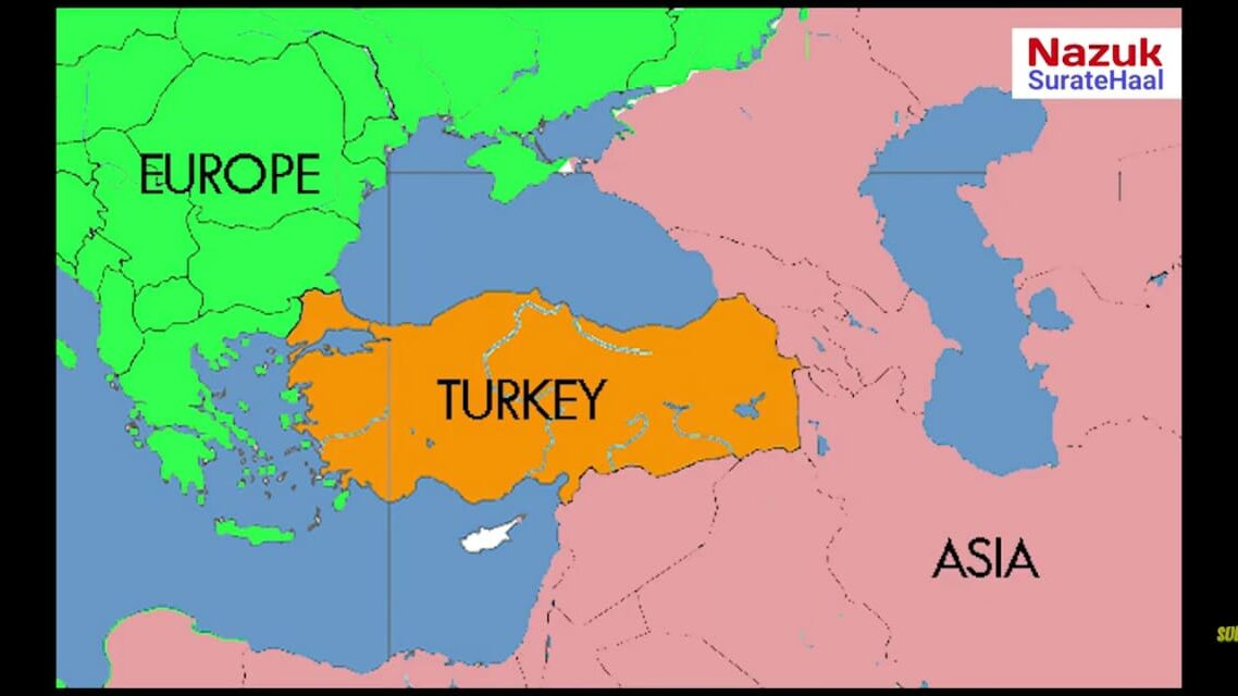 Geographical location of Turkey
