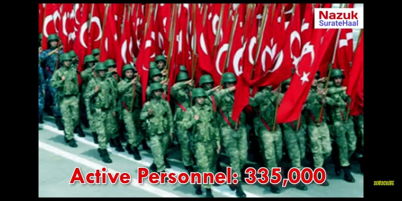 Turkey Military active personnel
