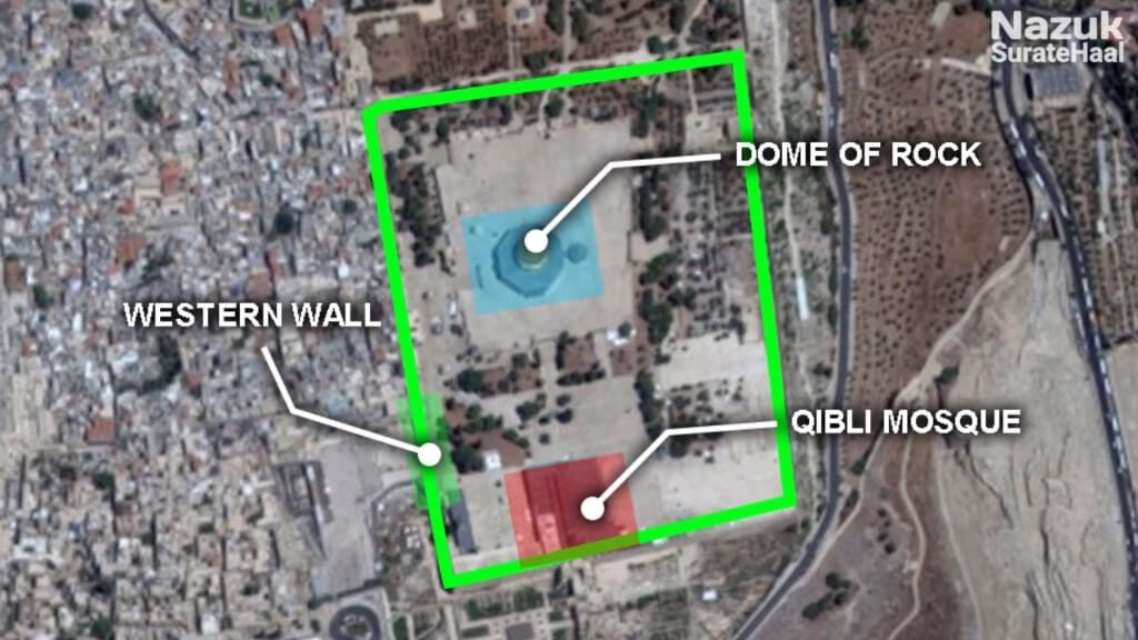 Difference between the dome of the rock, Qibli mosque and AL Aqsa mosque
