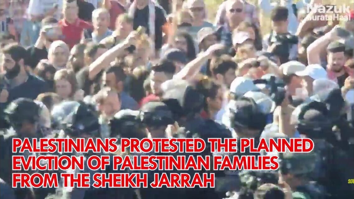Palestinians had been protesting the planned eviction of Palestinian families from the Sheikh Jarrah neighborhood