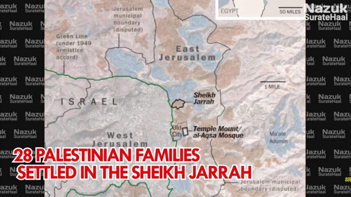 28 Palestinian families flew from Jerusalem and settled in the Sheikh Jarrah