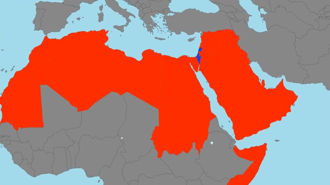 Size of Israel vs Arab countries