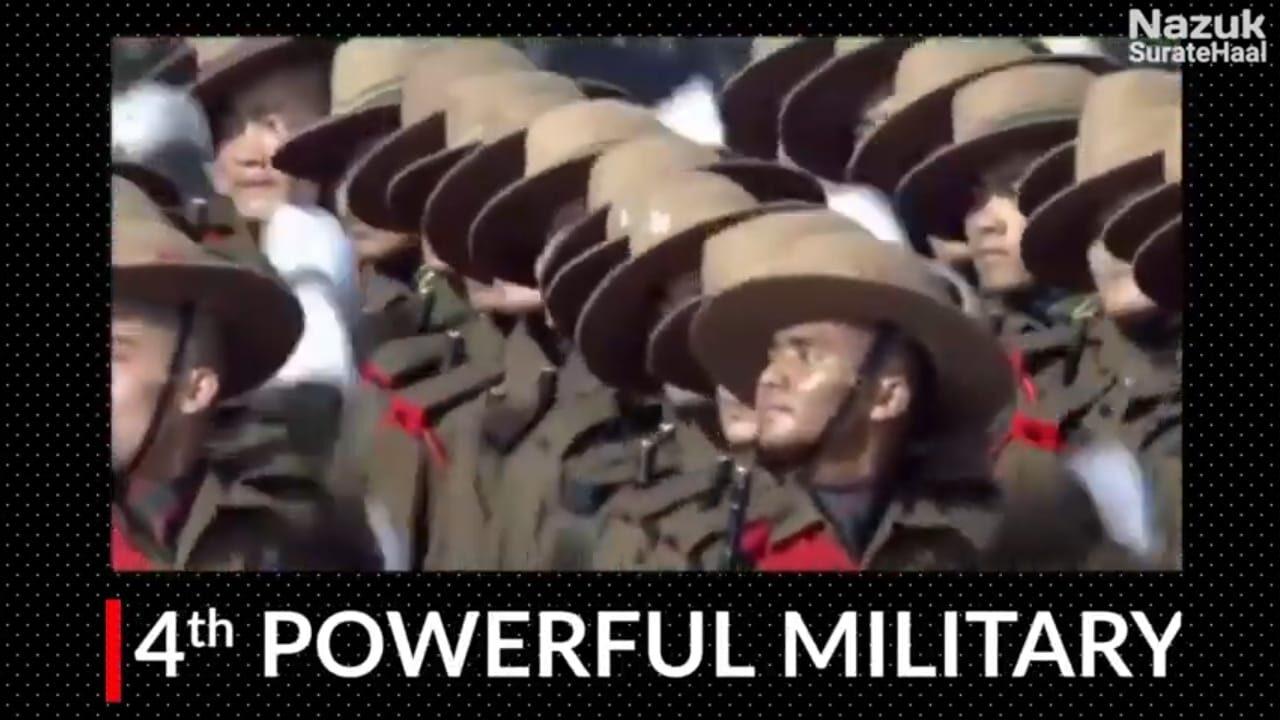 India has the 4th powerful military