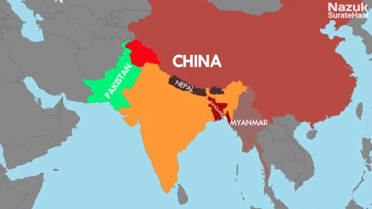 Geographical location of India